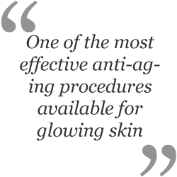 One of the most effective anti-aging procedures available for glowing skin.